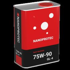 Масло трансмиссионное NANOPROTEC 75W-90 GL-4 Semi-Synthetic